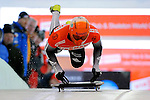 14 December 2007: Kazuhiro Koshi, racing for Japan, starts his first run at the FIBT World Cup Skeleton Competition at the Olympic Sports Complex on Mount Van Hovenberg, at Lake Placid, New York, USA. ..Mandatory Photo Credit: Ed Wolfstein Photo