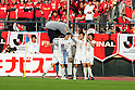 Kashima Antlers team group, OCTOBER 29, 2011 - Football / Soccer : Yuya Osako (2nd R) of Kashima Antlers celebrates with his teammates after scoring the winning goal in the first half of extra time during the 2011 J.League Yamazaki Nabisco Cup final match between Urawa Red Diamonds 0-1 Kashima Antlers at National Stadium in Tokyo, Japan. (Photo by AFLO)