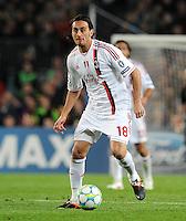 FUSSBALL  CHAMPIONS LEAGUE  VIERTELFINAL RUECKSPIEL   2011/2012      FC Barcelona - AC Mailand           03.04.2012 Alberto Aquilani  (AC Mailand)
