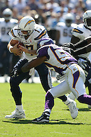 09/11/11 San Diego, CA: San Diego Chargers quarterback Philip Rivers #17 during an NFL game played at Qualcomm Stadium between the San Diego Chargers and the Minnesota Vikings. The Chargers defeated the Vikings 24-17.