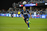 San Jose, CA - Saturday, March 04, 2017: Marco Ureña during a Major League Soccer (MLS) match between the San Jose Earthquakes and the Montreal Impact at Avaya Stadium.