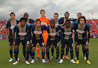 15 September 2012: The starting eleven of the Philadelphia Union during an MLS game between the Philadelphia Union and Toronto FC at BMO Field in Toronto, Ontario..The game ended in a 1-1 draw..