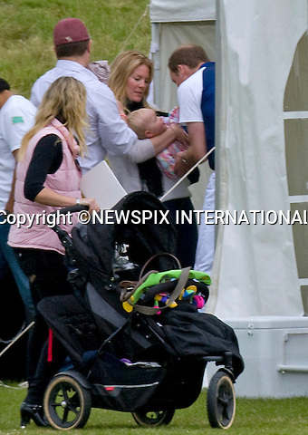 "PRINCE WILLIAM PLAYS WITH COUSIN SAVANNAH.KATE HAS FAMILY DAY WITH PRINCES WILLIAM AND HARRY AT POLO.Catherine, Duchess of Cambridge joined Princes William and Harry extended family at the Polo..They included Zara Phillips and husband Mike Tindall, Peter Phillips, Autumn and children Savannah and Isla..Kate and William also brought along their new puppy Lupo to the event..The Princes were playing in a charity polo match at Beaufort, Gloucestershire_17/06/2012.Mandatory Credit Photo: ©NEWSPIX INTERNATIONAL..**ALL FEES PAYABLE TO: ""NEWSPIX INTERNATIONAL""**..IMMEDIATE CONFIRMATION OF USAGE REQUIRED:.Newspix International, 31 Chinnery Hill, Bishop's Stortford, ENGLAND CM23 3PS.Tel:+441279 324672  ; Fax: +441279656877.Mobile:  07775681153.e-mail: info@newspixinternational.co.uk"