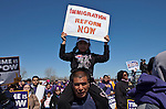Immigrants rally at Liberty State Park in New Jersey