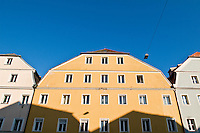 Traditional Bavarian architecture, Regensburg, Germany