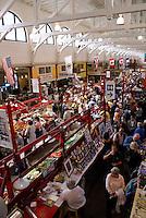 Interior of the Saint John City Market in the city of Saint John, New Brunswick, Canada