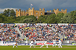 CHESTER LE STREET, ENGLAND - August 12: A general view of play with Lumley Castle in the distance during day four of the Investec Ashes 4th test match at The Emirates Riverside Stadium, on August 12, 2013 in London, England. (Photo by Mitchell Gunn/ESPA)