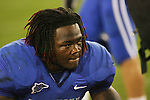 UK linebacker Danny Trevathan reflects on the loss against Auburn after the game at Commonwealth Stadium on Saturday, Oct. 9, 2010. Photo by Scott Hannigan | Staff