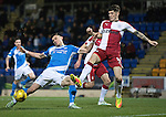 St Johnstone v Rangers&hellip;28.12.16     McDiarmid Park    SPFL<br />Graham Cummins and Rob Kiernan<br />Picture by Graeme Hart.<br />Copyright Perthshire Picture Agency<br />Tel: 01738 623350  Mobile: 07990 594431