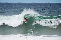 BELLS BEACH, Victoria/AUS (Sunday, March 27, 2016) Conner Coffin (USA) - Action at the Rip Curl Pro Bells Beach, the second stop on the World Surf League (WSL) Championship Tour (CT), continued today with Round Two and six heats of Round Three of the Men's heats.<br /> There were light onshore South West winds throughout the day with the swell in the 6'-8' range.<br /> <br /> Bells Beach has been hosting surfing tournaments for more than 50 years now, making it the most renowned spot on the raw and rugged southern coast of Victoria, Australia. The list of  Rip Curl Pro event champions is a veritable who's who of surfing icons, including many world champions.<br /> <br /> Surfing's greats have a way of dominating Bells. Mark Richards, Kelly Slater, and Mick Fanning all have four Bells trophies; Michael Peterson and Sunny Garcia, three; While Simon Anderson, Tom Curren, Joel Parkinson, Andy Irons, and Damien Hardman each grabbed a pair.<br /> <br /> The story is similar on the women's side. Lisa Andersen and Stephanie Gilmore have four Bells titles; Layne Beachley and Pauline Menczer, three; while Kim Mearig and Sally Fitzgibbons each have two.<br /> <br /> The 2016 event is about to kick off tomorrow and there was a packed warm up session at Bells this morning. <br /> Photo: joliphotos.com