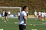 26 September 2010: FC Gold Pride's Shannon Boxx during pregame warmups. FC Gold Pride defeated the Philadelphia Independence 4-0 at Pioneer Stadium in Heyward, California in the Women's Professional Soccer championship game.