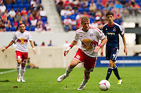 Jan Gunnar Solli (8) of the New York Red Bulls. The Chicago Fire defeated the New York Red Bulls 2-0 during a Major League Soccer (MLS) match at Red Bull Arena in Harrison, NJ, on October 06, 2012.