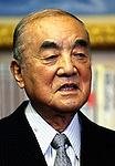 Former Japan prime minister Yasuhiro Nakasone
