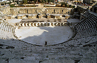 Ruins of the Roman theatre, Amman, Jordan.