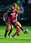 19 September 2010: Colgate University Raider midfielder Kelsey Hough, a Freshman from Lake Forest, IL, in action against the University of Vermont Catamounts at Centennial Field in Burlington, Vermont. The Raiders scored a pair of second half goals two minutes apart to notch a 2-0 victory over the Lady Cats in non-conference women's soccer play. Mandatory Credit: Ed Wolfstein Photo
