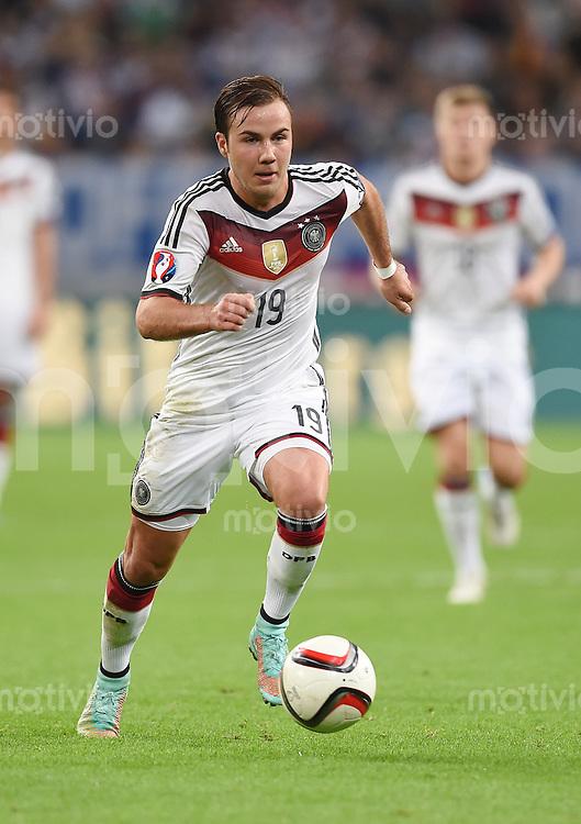 Fussball International EM 2016-Qualifikation  Gruppe D  in Gelsenkirchen 14.10.2014 Deutschland - Irland Mario Goetze (Deutschland)