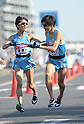 (L to R) Kentaro Tone (Tokai-Univ), Asuka Tanaka (Tokai-Univ), JANUARY 2, 2012 - Athletics : The 88th Hakone Ekiden Race Hiratsuka Relay place in Kanagawa, Japan. (Photo by Atsushi Tomura/AFLO SPORT) [1035].