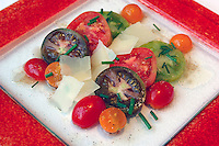 Heirloom Tomato Salad, Manchego Cheese, Sherry Vinaigrette, Nacional 27, Chicago, Illinois, USA