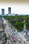 Mexico, Mexico City, Paseo de la Reforma, Alameda Central Park, Pemex Building