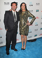 guest &amp; Patti Stanger.Bravo's Andy Cohen's Book Release Party For &quot;Most Talkative: Stories From The Front Lines Of Pop Held at SUR Lounge, West Hollywood, California, USA..May 14th, 2012.full length gold black dress hand on hip suit.CAP/ADM/KB.&copy;Kevan Brooks/AdMedia/Capital Pictures.