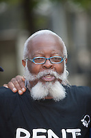 """Jimmy McMillan of """"The Rent is Too Damn High"""" party at the West Indian American Day Parade held on Monday, September 5, 2011 in Crown Heights, Brooklyn, New York."""