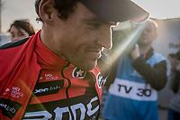 race winner Greg Van Avermaet (BEL/BMC) catching some last light post-race<br /> <br /> 1day race: Harelbeke &rsaquo; Harelbeke - BEL (206km)