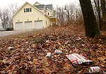 NEW HARTFORD, CT- 01 JANUARY 2006-0101067JS01-A person was stabbed and killed at a New Years party at this house located at 349 Stub Hollow Road in New Hartford. <br /> Jim Shannon/Republican-American