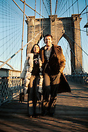Brooklyn Bridge, New York - February 23, 1973. Jean Pierre Cassel with wife Sabine Litique. He (27 October 1932 - 19 April 2007) was a French actor who was discovered by actor and director Gene Kelly, and is best known for his roles in Male Companion, by Philippe de Broca, and L' Armée des Ombres (Army of Shadows), the 1969 French film directed by Jean-Pierre Melville.
