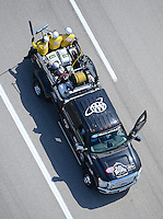 Apr. 28, 2012; Baytown, TX, USA: Aerial view of NHRA Safety Safari vehicle and crew during qualifying for the Spring Nationals at Royal Purple Raceway. Mandatory Credit: Mark J. Rebilas-