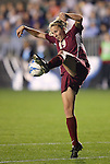 1 December 2006: Florida State's Becky Edwards. The University of Notre Dame Fighting Irish defeated Florida State Seminoles 2-1 at SAS Stadium in Cary, North Carolina in an NCAA Division I Women's College Cup semifinal game.