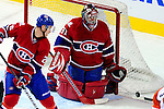 7 December 2009: Montreal Canadiens' goaltender Carey Price keeps the puck out of the net during the first period against the Philadelphia Flyers at the Bell Centre in Montreal, Quebec, Canada. The Canadiens defeated the Flyers 3-1. Mandatory Credit: Ed Wolfstein Photo