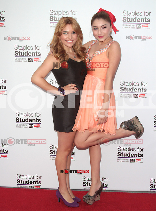 UNIVERSAL CITY, CA - JULY 22: Julianna Rose and Jennessa Rose at the 2012 Staples For Students 'Party' For A Cause hosted by Staples, DoSomething.org and Bella Thorne at the Globe Theatre at Universal Studios on July 22, 2012 in Universal City, California &copy; mpi21/MediaPunch Inc. /NortePhoto.com*<br />