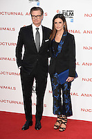 LONDON, UK. October 14, 2016: Colin Firth &amp; wife Livia Firth at the London Film Festival 2016 premiere of &quot;Nocturnal Animals&quot; at the Odeon Leicester Square, London.<br /> Picture: Steve Vas/Featureflash/SilverHub 0208 004 5359/ 07711 972644 Editors@silverhubmedia.com