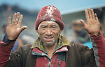 A man wears ashes on his head, part of a wake in the Buddhist village of Gatlang, in the Rasuwa District of Nepal near the country's border with Tibet.