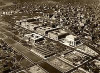 historical aerial photograph Federal Triangle, Washington, DC, 1937