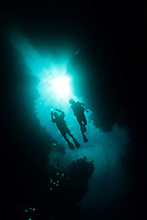 Scuba diver silhouettes<br />