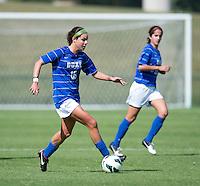 Laura Weinberg (16) of Duke brings the ball forward during the game at Klockner Stadium in Charlottesville, VA.  Virginia defeated Duke, 1-0.