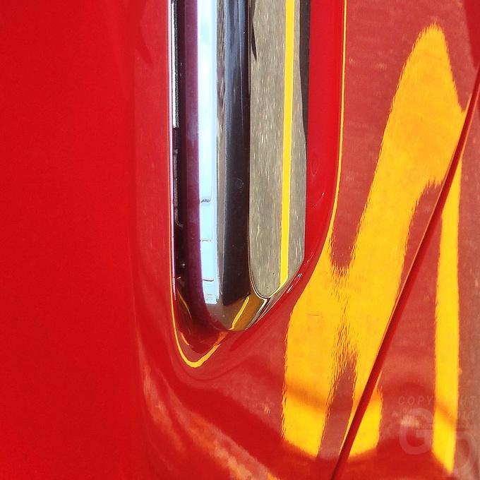 Abstract car reflection