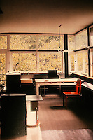 Gerrit Rietveld: Schroder House. View of living/dining room area.