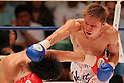 (L to R) Hiroto Fukuhara, Shuhei Tsuchiya, AUGUST 10, 2011 - Boxing : Shuhei Tsuchiya in action against Hiroto Fukuhara during the light weight bout at Korakuen Hall, Tokyo, Japan. Shuhei Tsuchiya won by TKO after the fight was stopped in the ninth round. (Photo by Yusuke Nakanishi/AFLO) [1090]