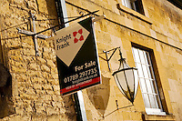For Sale sign for Knight Frank estate agency, Gloucestershire, United Kingdom