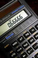 CALCULATOR DISPLAY OF SIGNIFICANT NUMBERS<br /> (Variations Available)<br /> Display Reading .66666<br /> Liquid Crystal Display (LCD)