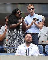 FLUSHING NY- SEPTEMBER 03: Uzo Aruba is sighted watching Serena Williams Vs Johanna Larssonon Arthur Ashe Stadium at the USTA Billie Jean King National Tennis Center on September 3, 2016 in Flushing Queens. Credit: mpi04/MediaPunch