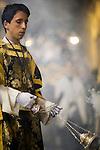 Altar boy with a censer, Holy Week 2008, Seville, Spain