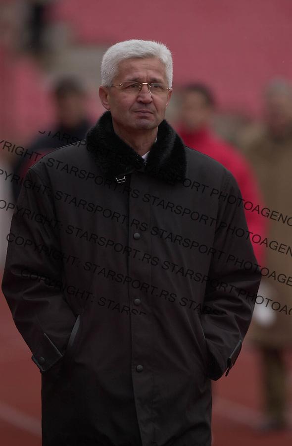 SPORT FUDBAL CRVENA ZVEZDA ZELEZNIK LAVOVI 3.3.2004. Mile Tomic foto: Pedja Milosavljevic<br />
