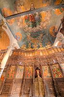 Church of Saint Spas Skopje, Macedonia, Western Balkans Region, Europe, Frescoes and carved iconostases (wood carvings) from 17th century and 19th century (wood)