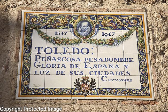 Cervantes Comment on Toledo, Spain