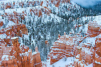 Bryce Canyon National Park, Utah in snow