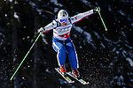 INNICHEN - SAN CANDIDO, ITALY - DECEMBER 22: Maria Komissarova of Russia  races down the course during the official training session and qualification for the Audi FIS Freestyle Skiing World Cup Skier Cross race on December 22 2012 in Innichen - San Candido, Italy. (Photo by Mitchell Gunn/ESPA) *** Local Caption *** Maria Komissarova