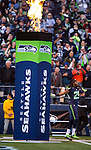 Seattle Seahawks  cornerback Richard Sherman is introduced before their game against Tampa Bay Buccaneers at CenturyLink Field in Seattle, Washington on  November 3, 2013.  The Seahawks beat the Buccaneers 27-24 in overtime. ©2013. Jim Bryant. All Rights Reserved.
